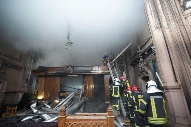пожежа в костелі Святого Миколая